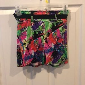 Pants - Splash Paint Teen S Booty Shorts